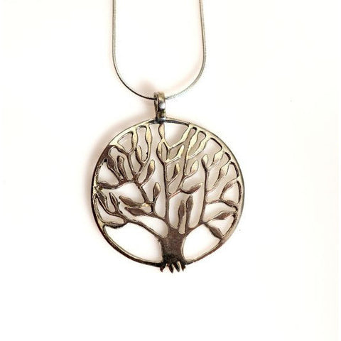 STERLING SILVER TREE OF LIFE PENDANT - Side Street Studio