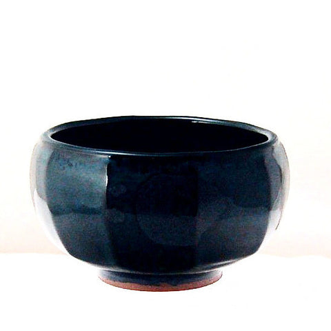 FACETTED MIDNIGHT BLUE BOWL - Side Street Studio