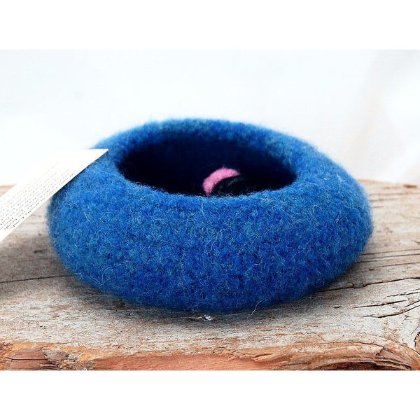 SERENITY FELTED BOWL WITH 3 WOOL BALLS - Side Street Studio