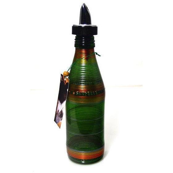 GLASS POURING BOTTLE - DARK GREEN - Side Street Studio