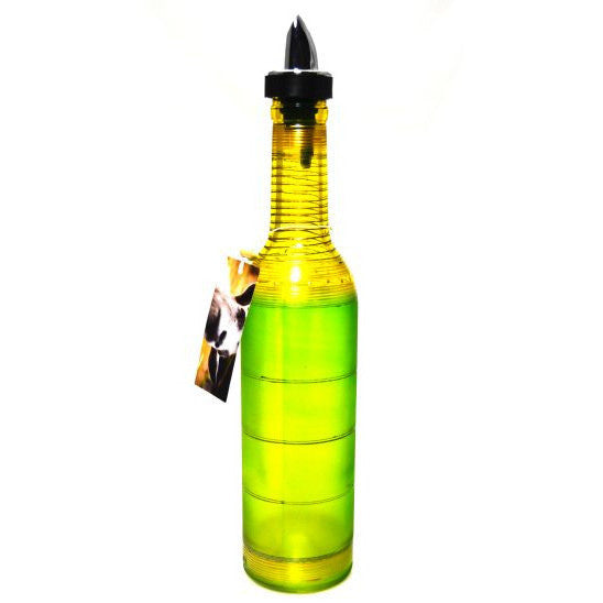 DEMI WINE POURING BOTTLE - GREEN - Side Street Studio