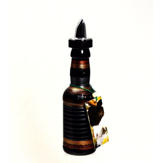 SMALL BEER GLASS POURING BOTTLE - BLACK - Side Street Studio