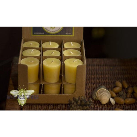 SINGLE PURE BEESWAX VOTIVE CANDLE - Side Street Studio
