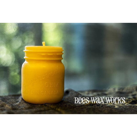 PURE BEESWAX MASON JAR CANDLE - Side Street Studio