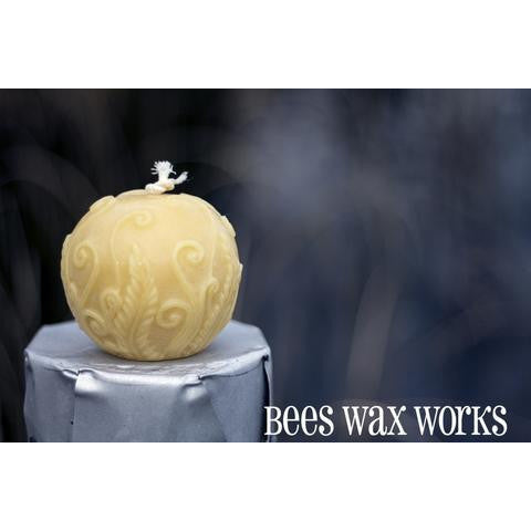 PURE BEESWAX RUSTIC FERN GLOBE CANDLE