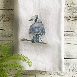 Blue Jay Tea Towels by Emma Pyle