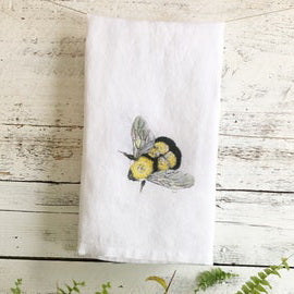 Bumble Bee Tea Towels by Emma Pyle