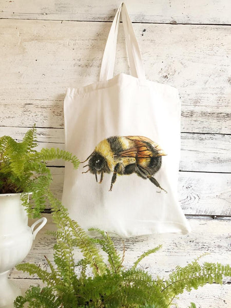 Honey Bee Tote Bag by Emma Pyle Art