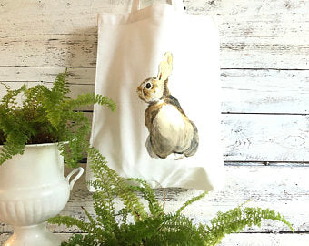 Bunny Tote Bag by Emma Pyle Art