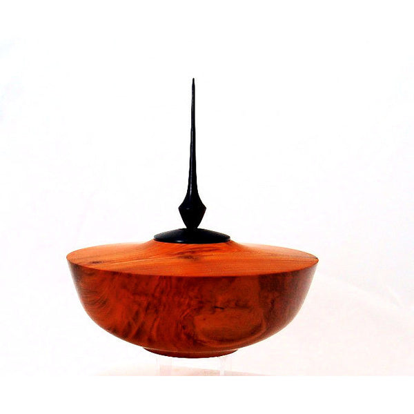 CHERRY WOOD BOWL WITH FILIAL - Side Street Studio