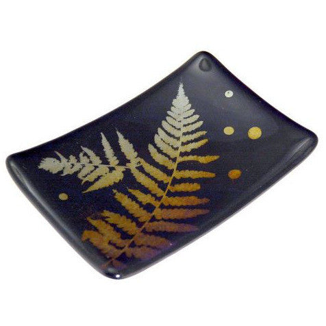 FERN LEAF GLASS DISH - Side Street Studio