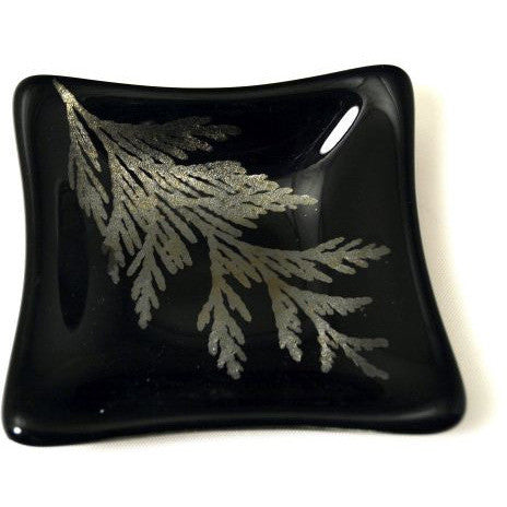 CEDAR DESIGN GLASS SAUCE DISH