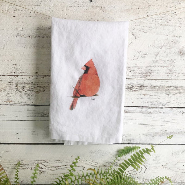 Cardinal Tea Towels by Emma Pyle