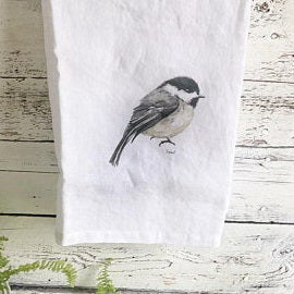 Chickadee Tea Towels by Emma Pyle