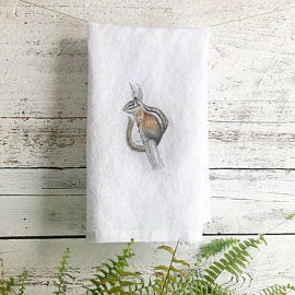 Chipmunk Tea Towels by Emma Pyle