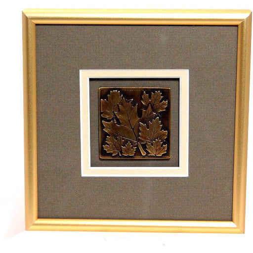 GOLD MAPLE LEAF PEWTER PICTURE - Side Street Studio