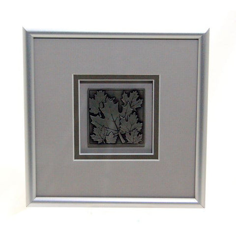 PEWTER MAPLE LEAF PICTURE - Side Street Studio