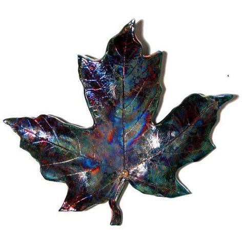 LARGE RAKU MAPLE LEAF - Side Street Studio
