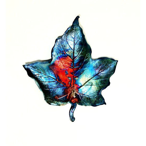 SMALL RAKU MAPLE LEAF - Side Street Studio