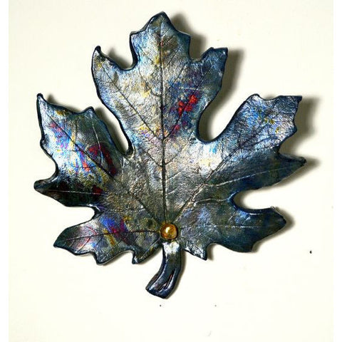 MEDIUM RAKU MAPLE LEAF - Side Street Studio