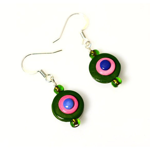 POLYMER CLAY DOT EARRINGS - Side Street Studio