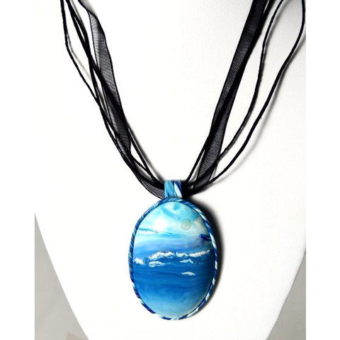 OCEAN DESIGN POLYMER CLAY PENDANT - Side Street Studio