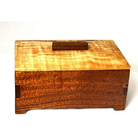 MAHOGANY AND SPALTED MAPLE JEWELRY BOX - Side Street Studio - 1