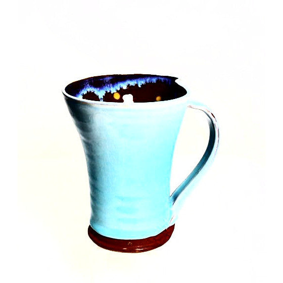 TALL TURQUOISE  MUG - Side Street Studio