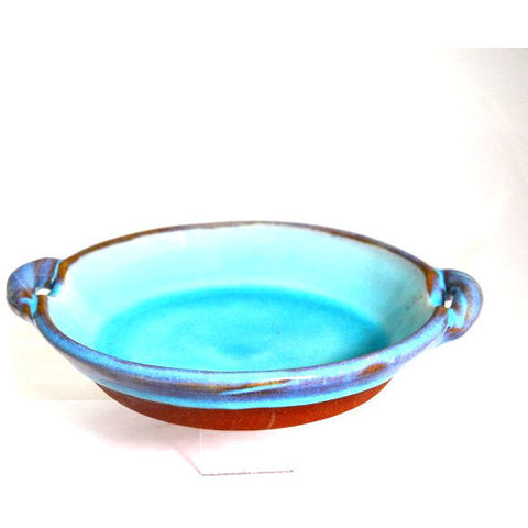 PLAIN RIMMED SERVING DISH WITH HANDLES - Side Street Studio