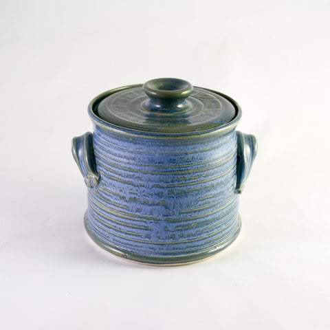 BLUE JAR WITH LID