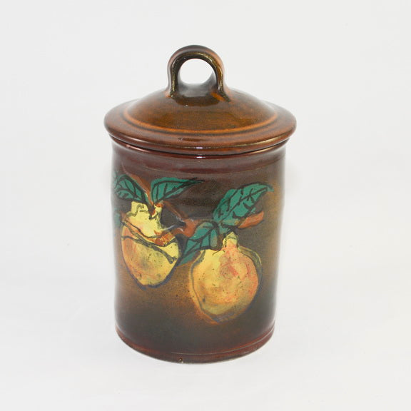 PEAR JAR WITH LID