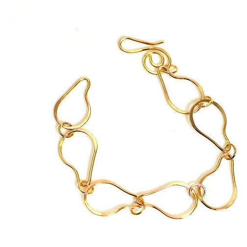 GOLD FILLED FORGED RING CHAIN BRACELET - Side Street Studio