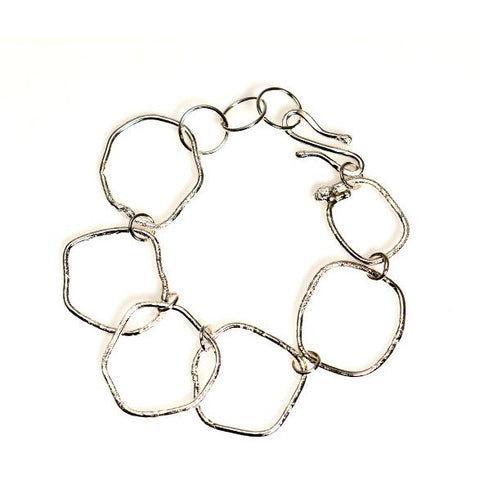 STERLING SILVER TEXTURED RING BRACELET - Side Street Studio