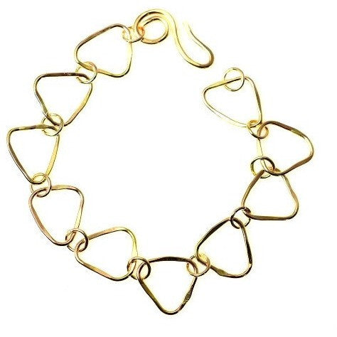 GOLD FILLED TRIANGLE SHAPED LINKS BRACELET - Side Street Studio