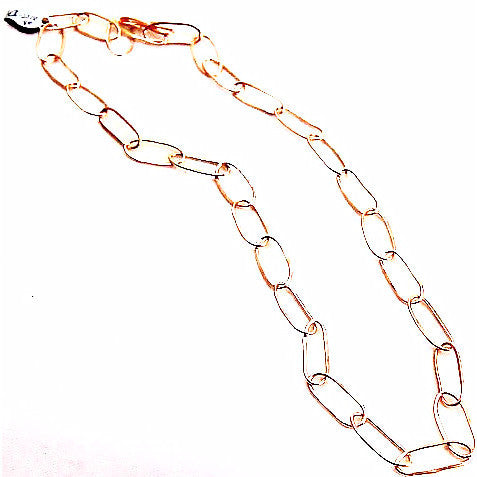 GOLD FILLED FORGED RING CHAIN NECKLACE - Side Street Studio