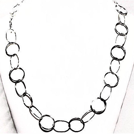 STERLING SILVER CHAIN NECKLACE - Side Street Studio - 1