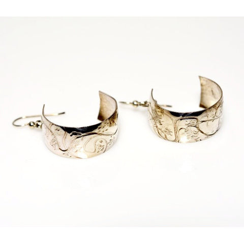 STERLING SILVER HOOP EARRINGS - Side Street Studio