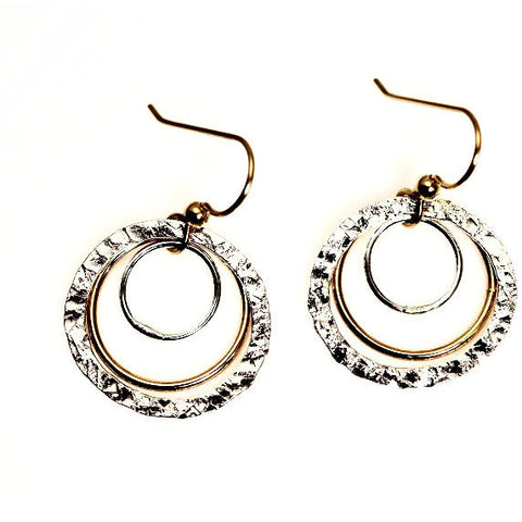 SILVER & GOLD FILLED EARRINGS - Side Street Studio