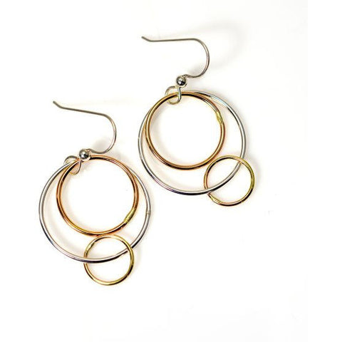 GOLD FILLED AND STERLING SILVER EARRINGS - Side Street Studio