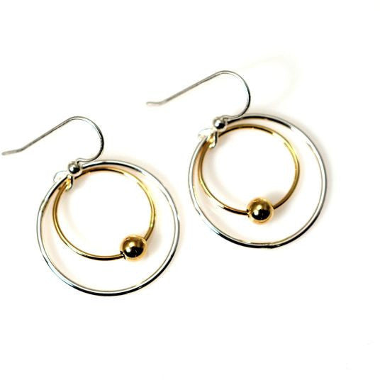 GOLD FILLED & STERLING SILVER EARRINGS - Side Street Studio