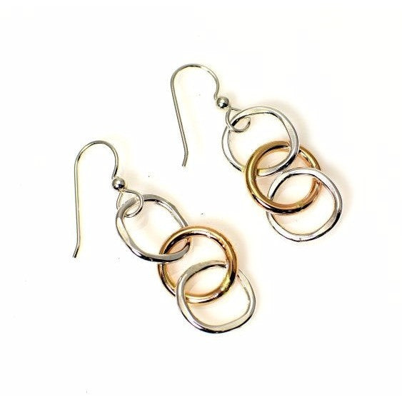 STERLING SILVER AND GOLD FILLED EARRINGS