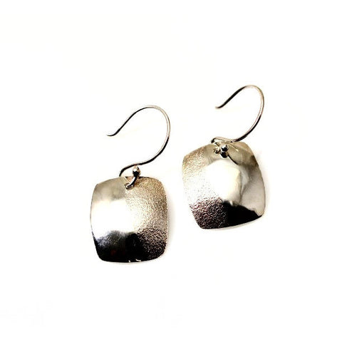 STERLING SILVER TEXTURED EARRINGS - Side Street Studio