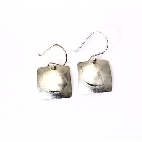 STERLING SILVER LEAF DESIGN EARRINGS - Side Street Studio