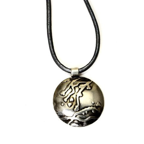 STERLING SILVER EMBOSSED PENDANT