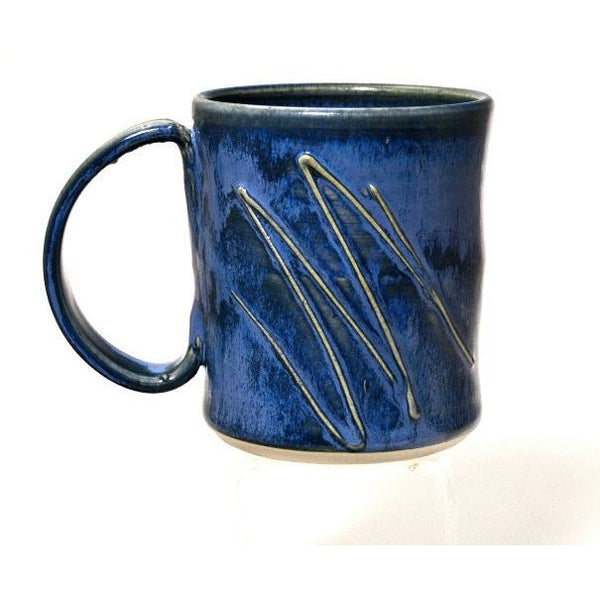 POWELL RIVER BLUE GLAZE CERAMIC MUG - Side Street Studio