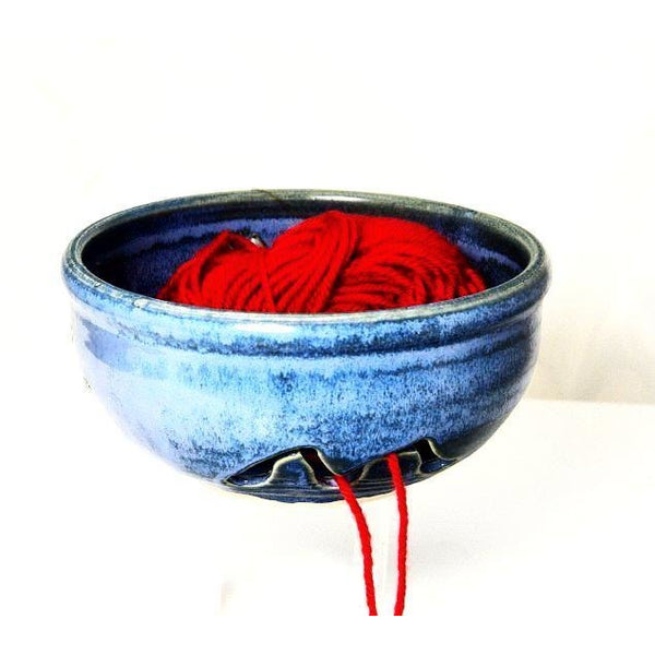 POWELL RIVER BLUE CERAMIC YARN BOWL