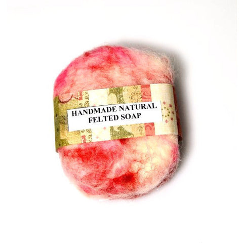 HAND MADE NATURAL FELTED SOAP - Side Street Studio