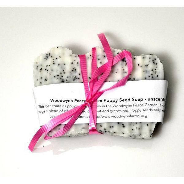 HANDMADE NATURAL GARDENERS POPPY SEED SOAP