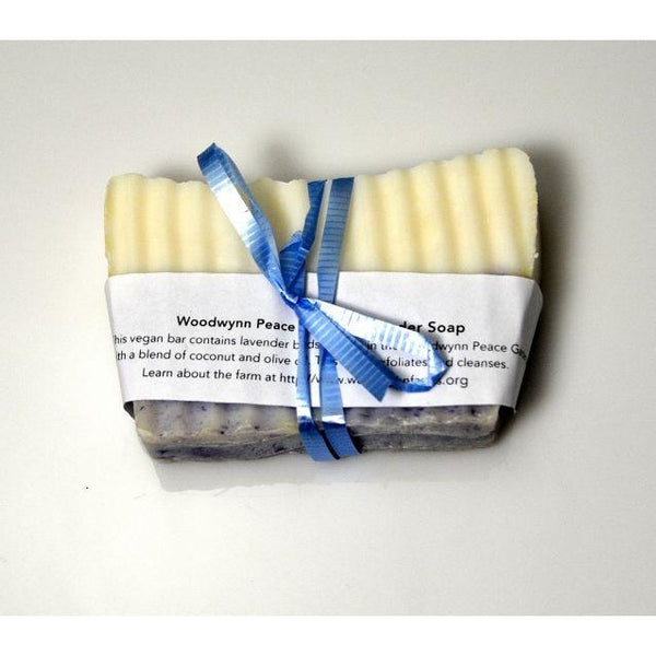 HANDMADE NATURAL WOODWYNN PEACE GARDEN LAVENDER  SOAP