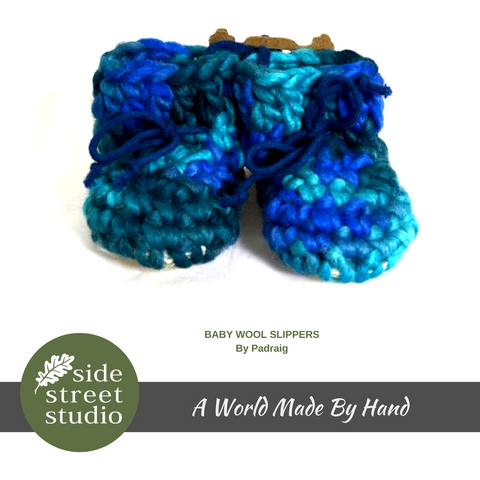 BABY WOOL SLIPPERS - SIZE 3